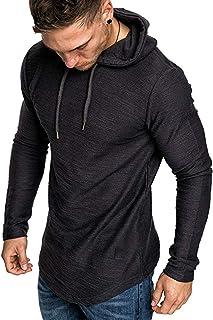 Solid Hoodies for Men - Fashion Athletic Hoodies Sport Sweatshirt Fleece Pullover Top Blouse