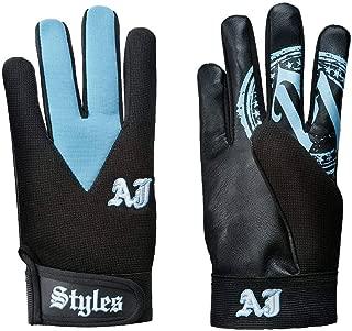 AJ Styles P1 Logo Carolina Blue Replica Fight Gloves