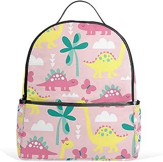Mydaily Cute Dinosaur Doodle Backpack for Boys Girls School Bookbag