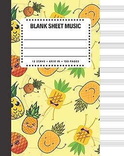 Blank Sheet Music: Pineapple Decor Cover Book 8x10