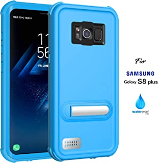ASAKUKI Galaxy S8 Plus Waterproof Case, IP68 Certified Case, Full Body Protective, Shockproof, Scratch-Proof, Dustproof Case with Built-in Screen Protector for Samsung Galaxy S8 Plus - Light Blue