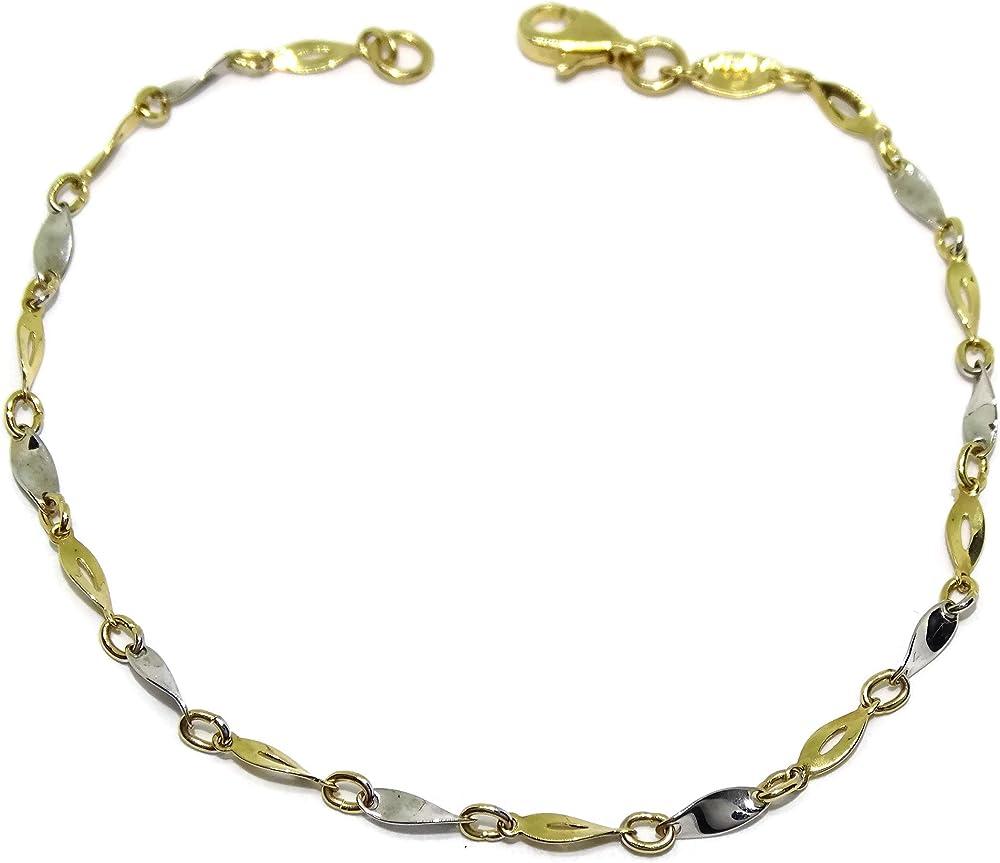 Never say never bracciale in oro giallo e oro bianco da 18 k 94007985
