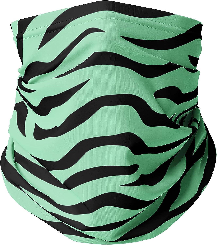 Neck Gaiter Face Covering - Zebra Print