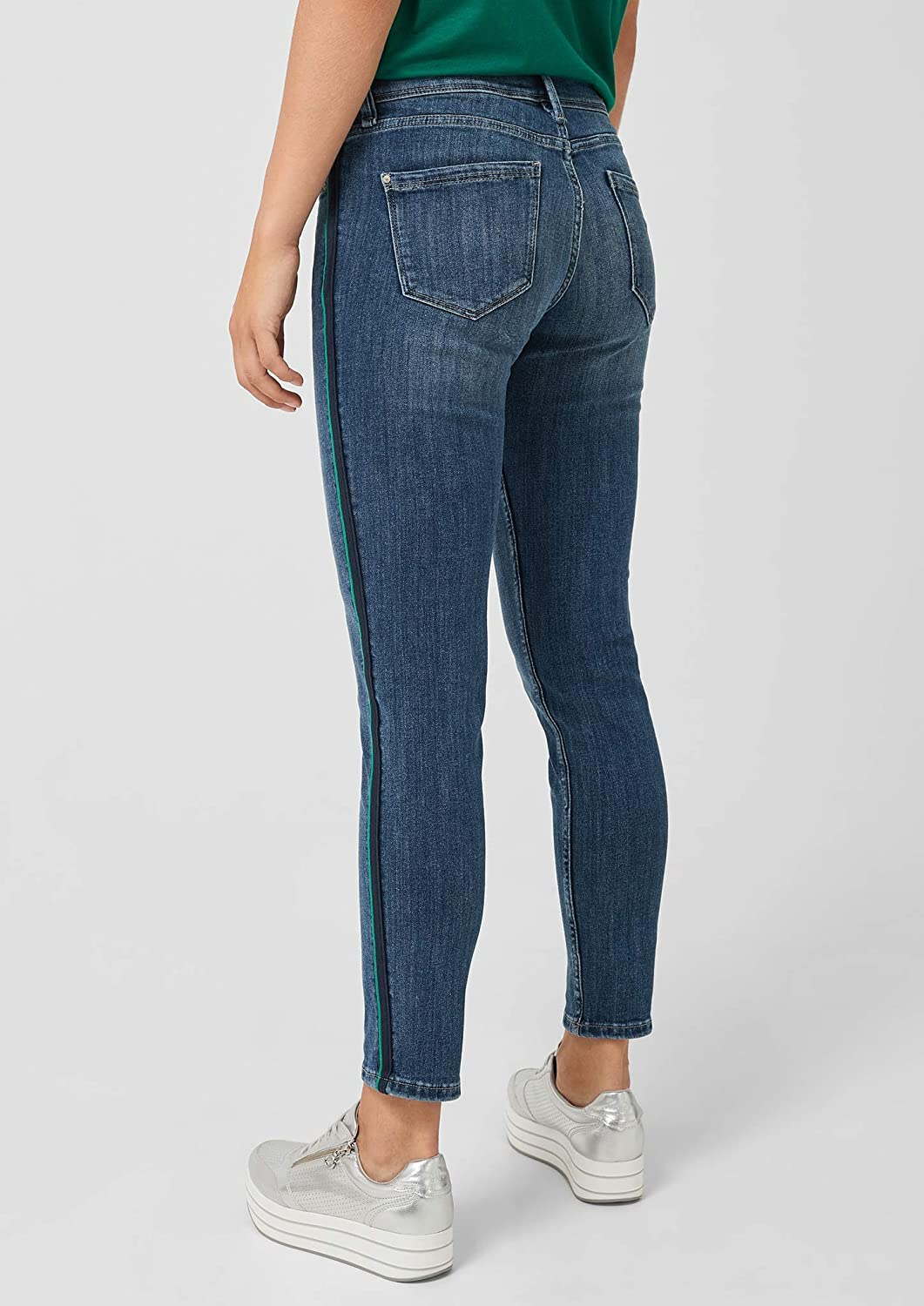 s.Oliver Pantalon Femme Bleu (Blue Denim Stretch 55z6)