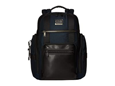 Tumi Alpha Bravo Sheppard Deluxe Brief Pack(r) (Navy) Briefcase Bags