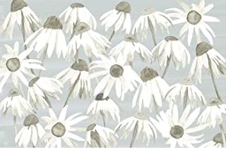 Lucy Grymes Decorative Paper Placemats - 10 Patterns Available - Party Placemats for Events, Birthdays, Showers - Pack of 24 Disposable Placemats - Made in USA - Recyclable (Gray Daisy)