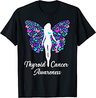 Thyroid Cancer Shirt Awareness Products Warrior Survivor