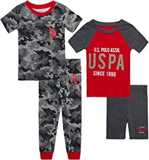 Boys' Pajama Set - 4-Piece Snug Fit Kids Sleepwear Bundle...