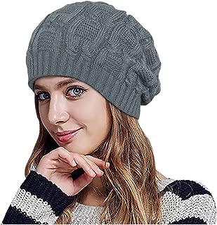 MEEFUR Mens Knitting Woolen Stocking Cap Thick Fleece Lining Beanie Winter Warm Hat Soft Slouchy Skull Caps