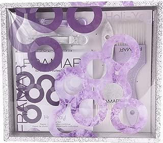 Framar Holiyay Coloring Kit - For Hair Bleach, Hair Salon, Hair Coloring Kit, Hair Dye Kit - Dye Brush, Hair Clips, and Foil Pack