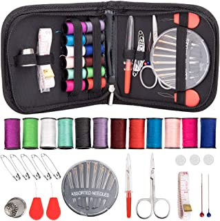 Sewing Kit for Beginner, Travel, Adults, Sewing Kit Emergency Accessories Bag DIY Sewing Supplies Organizer Pocket Size Fi...