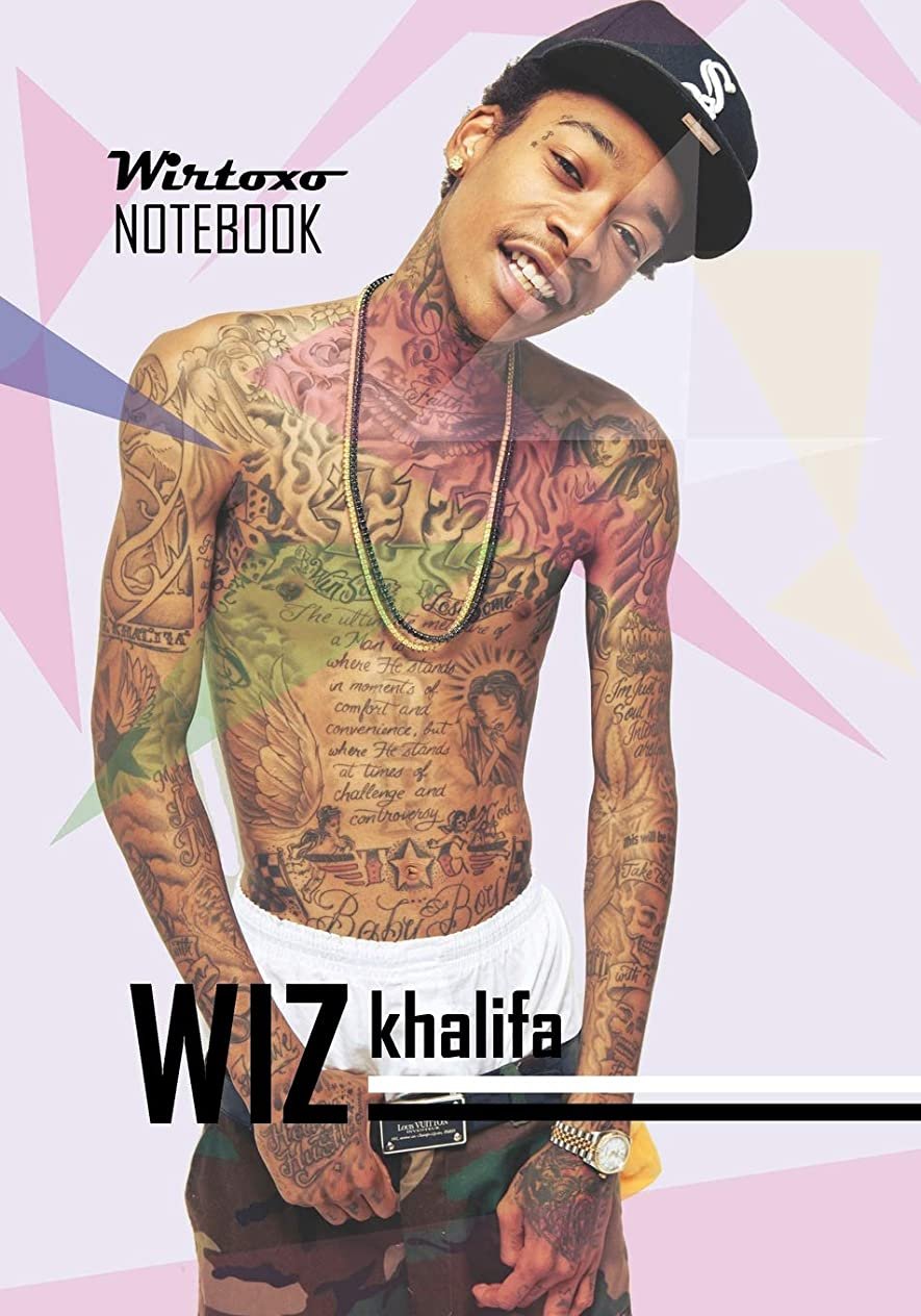 拒絶隔離カポックNotebook: Hip Hop Wiz Khalifa notebook Medium College Ruled Notebook 130 page Lined 7 x 10 in (17.78 x 25.4 cm)