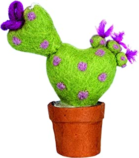 Wild Woolies Felt Love Cactus Ornament