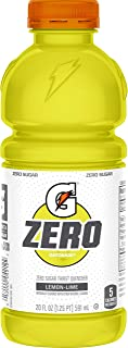 Gatorade Zero Sugar Thirst Quencher, Lemon-Lime, 20 Fl Oz (Pack of 12)
