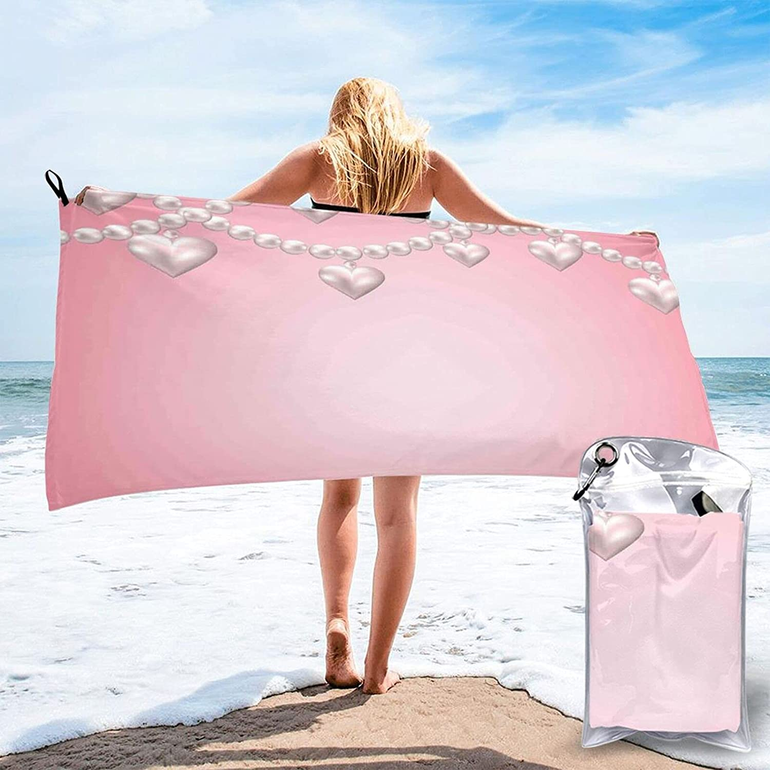 Pearls Beach Towel trust Heart Pearl Blanket Necklace Sale Special Price Lar Design
