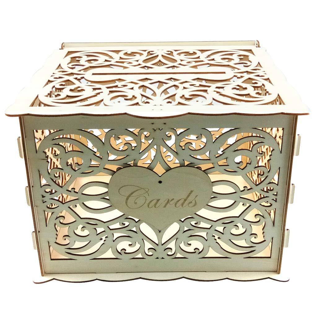 Xiuinserty Cartel de madera para bricolaje, caja de dinero rústica recepción Baby Shower boda fiesta: Amazon.es: Hogar