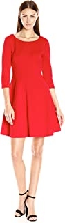 Taylor Dresses Women's Pebble Novelty Jacquard Fit and Flare Dress