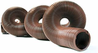 "Camco 39631-A 20' Durable High Tensile Strength Sewer Steel Wire Core – 20' Hose with 15 mils of HTS Vinyl, for Seasonal RVing Compresses to 32"" for Simple and Easy Storage, Brown (39631)"