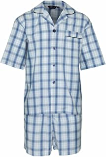 CHAMPION SHORTS PJ SET Champion Comfy Shorts with Shirt Mens Pyjamas (3XL, SKY)
