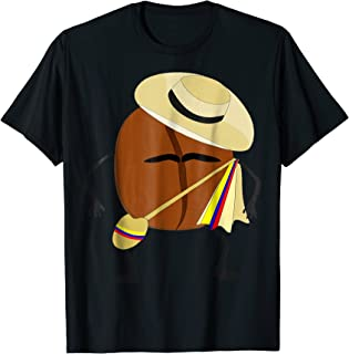 Colombian Coffee Bean Guy t-shirt, traditional folk clothes
