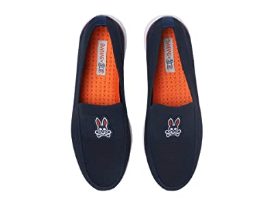 SWIMS Swims Psycho Bunny Breeze Wave Penny (Navy/Pink) Men