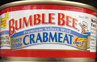 BUMBLE BEE Premium Select White CRABMEAT 6oz. (5 Cans)