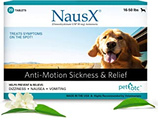 Nausx Anti Nausea/Motion Sickness Treatment and Preventative for Dogs