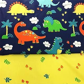 Fuya 160cm * 100cm * 2pieces dinosaurios hojas algodón tela PATCHWORK gamuza de tejido a mano DIY acolchar costura Material de vestido de bebé y niños hojas