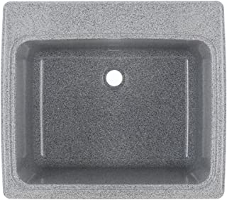 Swan SSUS1000.042 Dual Mount Solid Surface Utility Sink - Gray Granite, 22