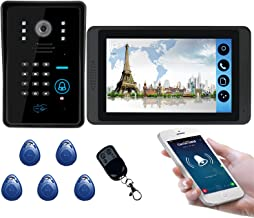 Wifi Video Deurbel, Intercom, Video Deurtelefoon Kit, Nachtzicht Camera + 7 Inch Monitor, ID Card Wachtwoord APP Afstandsb...