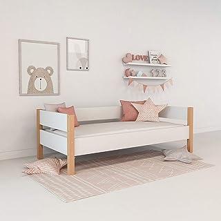 XXL Colorland Moderne Lit d'enfant servante en Bois dans 4 Couleurs Pastel, Dimensions 90 x 200 Chambre pour Les Enfants M...