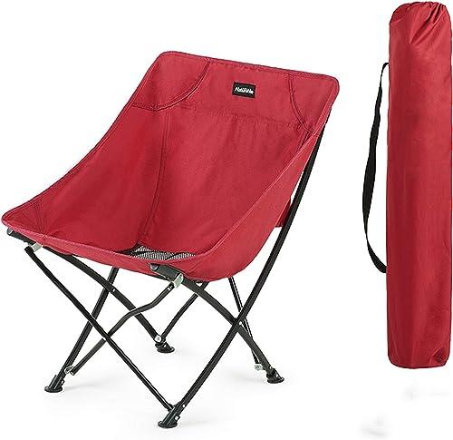 LIANGJING Chaise Pliante d'extérieur Chaise de pêche Portable à l'arrière Tabouret Mazar Chaise Longue de Plage Chaise Moon,rouge
