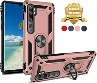 EUXERY for Xiaomi Mi Note 10 Case Mi Note 10 pro Case 360 Ring Holder Heavy Duty Hybrid Shockproof TPU Fits Magnetic Car Mount Protective Cover for Xiaomi cc9 pro (Pink)