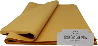 Noble Gold Dark Yellow Tissue Paper - 96 Sheets - 15 Inch x 20 Inch - for Gift Bags, Gift Wrapping, Flower, Party Decoration, Pom Poms - Premium Quality Made in United States