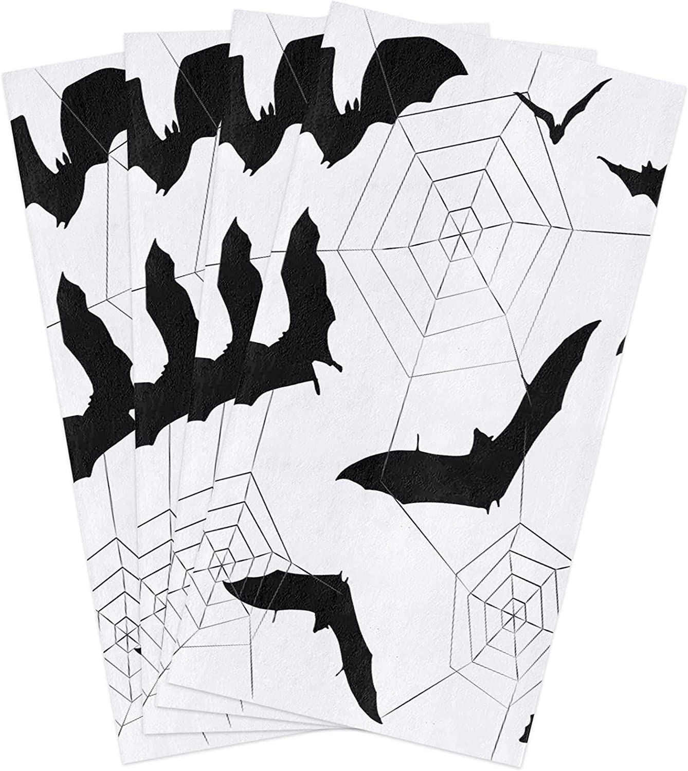 Halloween Kitchen Towels Set Black Towel Bats Ara All items free shipping Dish Today's only