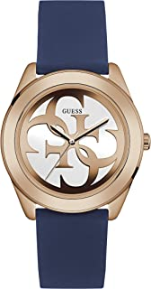 Guess Womens Quartz Watch, Analog Display and Silicone Strap W0911L6