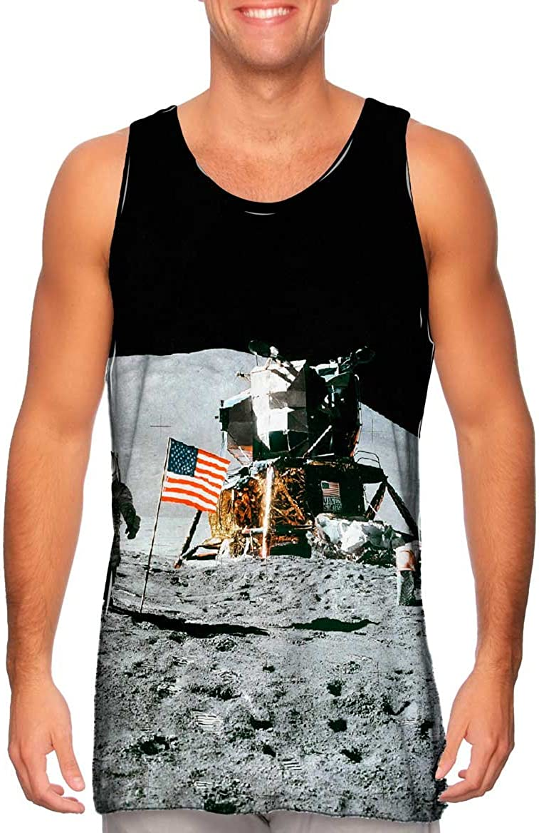 Yizzam- Apollo Popular popular 15 Flag On Moon -Tshirt- Space SEAL limited product Tank Mens Top