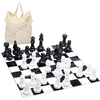 Garden Games Tapis en PVC 3 x 3 m /échecs g/éant Jeu de dames