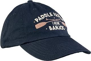 Paddle Faster, I Hear Banjos | Funny Camping, River Rafting Canoe Kayak Baseball Cap Dad Hat Navy Blue