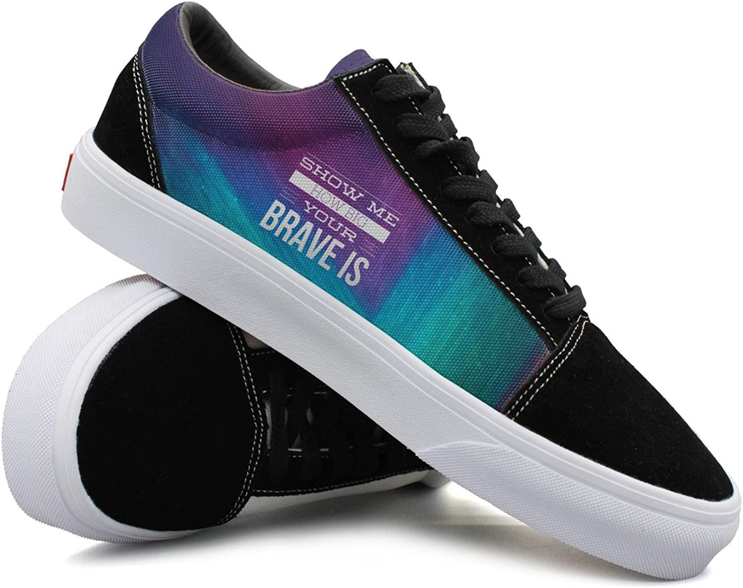 Womens Show Me How Big Your Braveis Comfortable Womens Sneakers