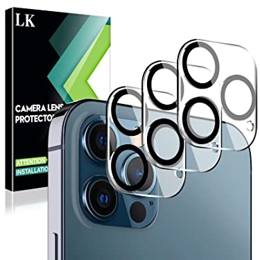 LK 3 Pack Camera Lens Screen Protector Compatible with iPhone 12 Pro Max 6.7-inch Tempered Glass,Ultra Thin High Definition, Case Friendly