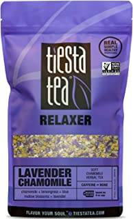 Tiesta Tea Lavender Chamomile, Soft Chamomile Herbal Tea, 200 Servings, 8 Ounce Bag, Caffeine Free, Loose Leaf Herbal Tea Relaxer Blend, Non-GMO