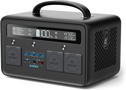 popular Anker 2021 Portable online Power Station, PowerHouse II 800, 500W/777Wh Solar Generator with 110V/500W 2-AC Outlets, 2X 60W Power Delivery Outputs & LED Flashlight, for Outdoor RV/Van Camping, Home Emergencies sale