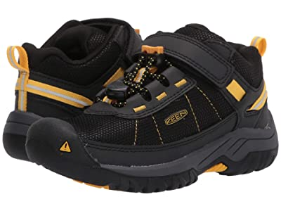 KEEN Kids Targhee Sport (Toddler/Little Kid) (Black/Keen Yellow) Boy