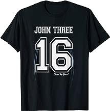 John Three 16 Christian Bible Jersey Style Double Sided T