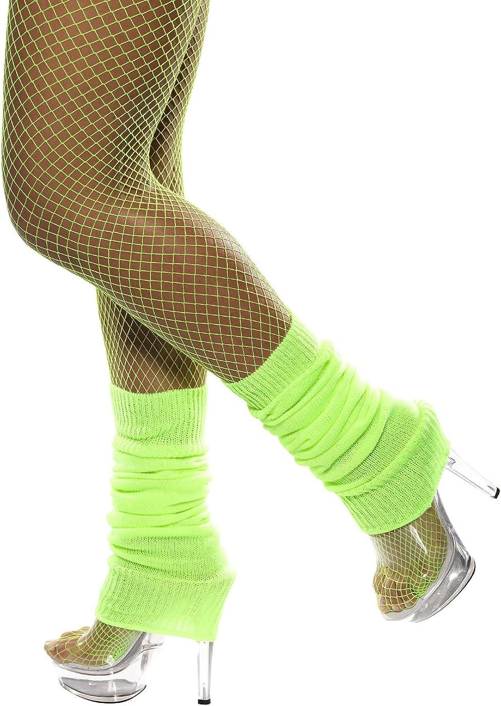 Smiffy's Neon Green Leg Warmers