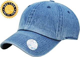 0fa773222d9 KBETHOS Dad Hat Adjustable Plain Cotton Cap Polo Style Low Profile Baseball  Caps Unstructured