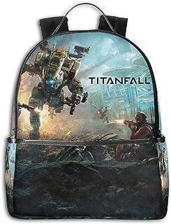 Youth Funny Backpack Titan-fall Backpack,Boys&Girls Fashion Backpacks,Travel Bag Outdoor Backpack Laptop Bag Bookbag Black