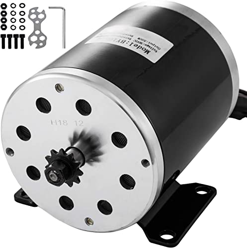 discount Mophorn 36V 500W Electric Brushed DC discount lowest Motor with 11 Tooth 25 Chain Sprocket and Mounting Bracket for Go Karts Scooters & E-Bike online