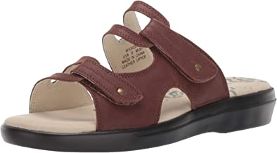 Propet Women's Marina Slide Sandal Brown 08 B US